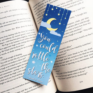 Rattle the Stars | Throne of Glass Bookmark