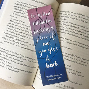 Every Time | The Mortal Instruments Bookmark