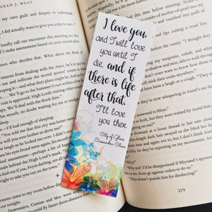I Love You | The Mortal Instruments Bookmark
