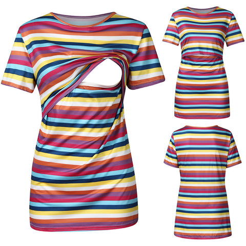 Rainbow of color Maternity & Nursing Top