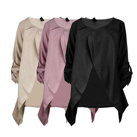 2 in 1 Loose Fitting Maternity Cardigan/Jacket & Nursing/Breastfeeding Cover - Plus Sizes