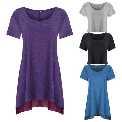 Short Sleeve V-neck Solid Maternity Top