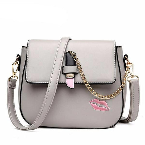 Kiss Lipstick Women Crossbody Bag
