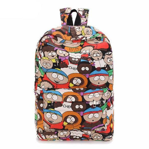 Graffiti Canvas School Backpack