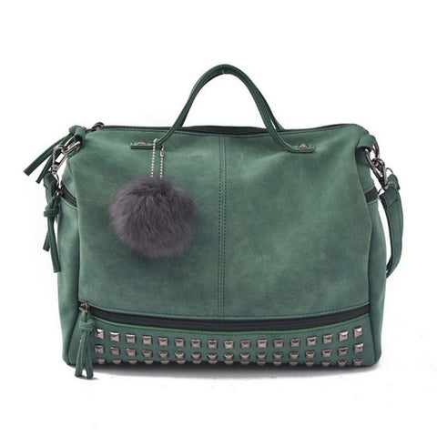 Rivet Zipper Style Crossbody Bag