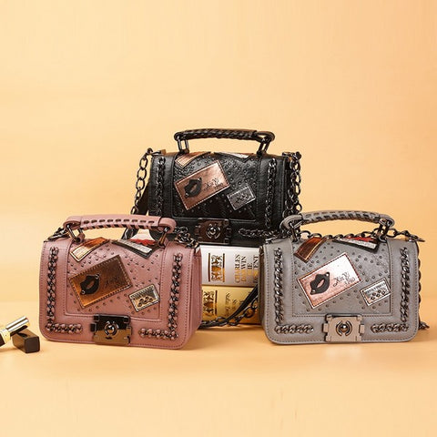 New Fashion Rivet Crossbody Bag
