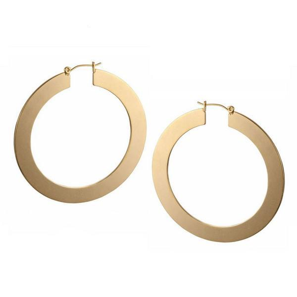 Classic Shiny Circle Hoop Earrings