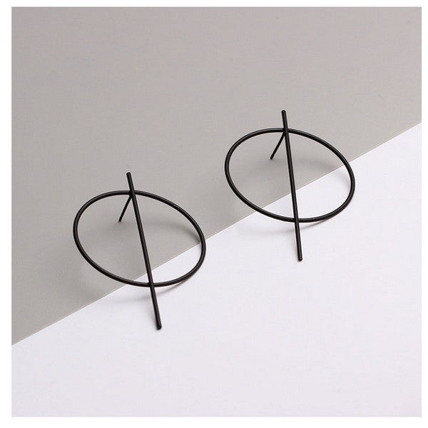 Retro Circle Stud Earrings