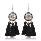 Good Quality Cotton Tassel Earrings