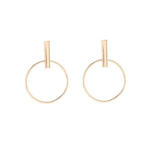 Simple Big Circle Hoop Earrings