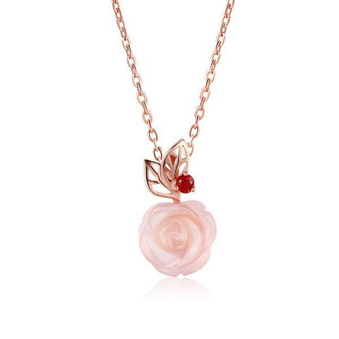 Unique Rose Flower Natural Necklace