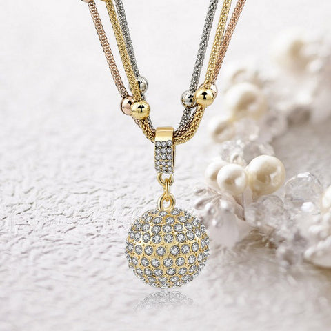 Shiny Ball Pendant Necklace