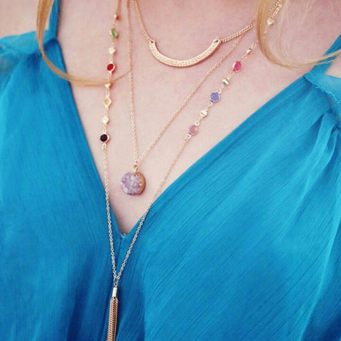 Tassel  Multilayers Necklace