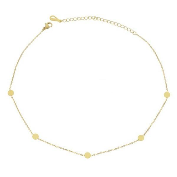 Geometric Simple Choker Necklace