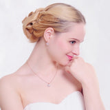 Elegant Wedding Necklace+Earrings Set