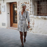 Bohemian Beach Vacation Dress