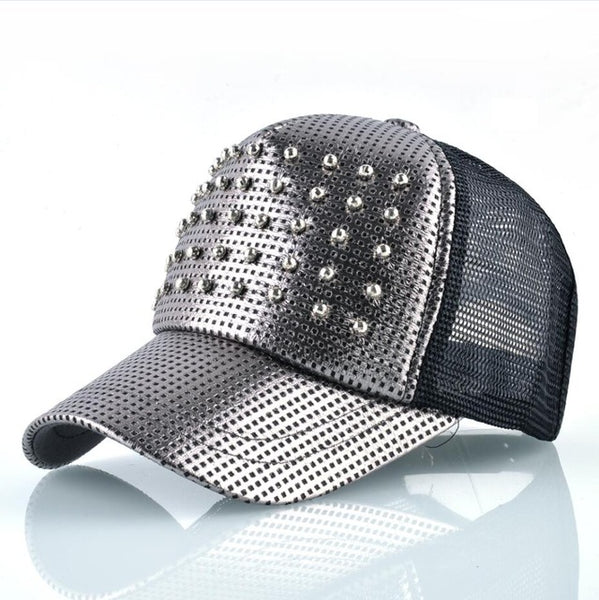 FLJ FASHIONZ Fashion Women Shinning Snapback Trucker Summer Breathable Hats  ... 36fa056d6429