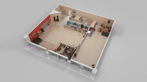 3D Floor Plan - Halo Renders
