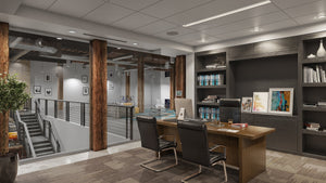 Commercial Interior Rendering of Office Space - Halo Renders