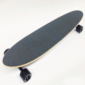 "Black Angel 40"" Pintail Longboard with Black Griptape"