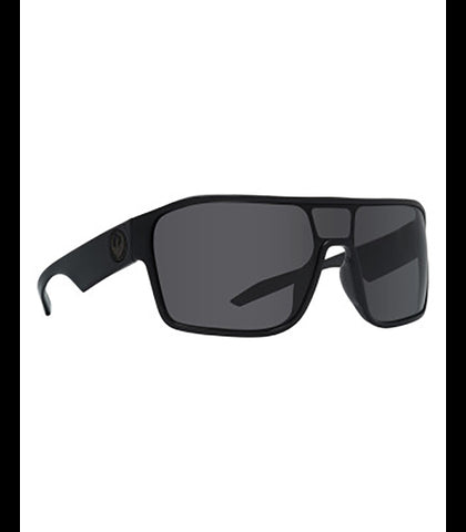 Tolm Shiny Black Grey Sunglasses