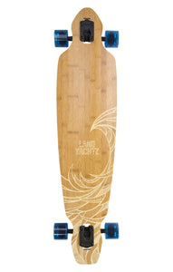 landyachtz battle axe 40 eagle bamboo longboard complete top platform view