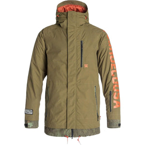 DC Men's Ripley Insulated Ski and Snowboard Jacket Military Olive, Small