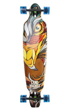 landyachtz battle axe 40 eagle bamboo longboard complete bottom graphic