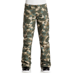 DC Women's Recruit Ski and Snowboard Pant Camo, Large