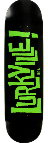 Lurkville Logo Black/Green 8.5 Skateboard Deck