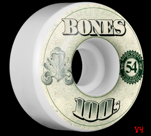 Bones 100s Original Formula White 54mm 100a Skateboard Wheels