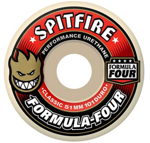Spitfire Formula Four Classic 55mm Skateboard Wheels (Red)