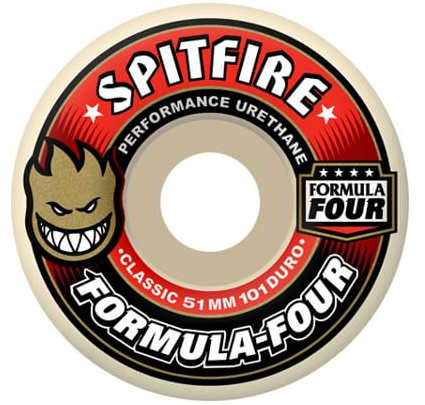 Spitfire Formula Four Classic 56mm Skateboard Wheels (Red)
