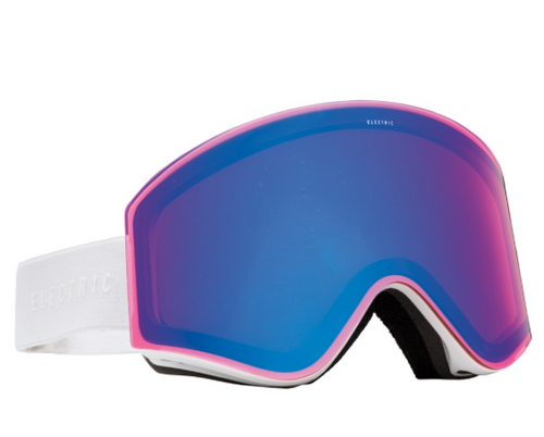 Electric EXG Snowboarding Goggles Gloss White Blue Chrome