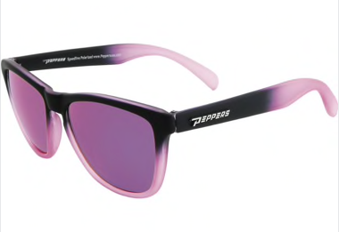 Peppers Breakers Matte Black to Matte Pink Fade Brown Pol Diamond Pink Mirror Lens Sunglasses