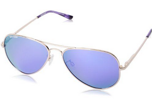 Peppers Maverick Shiny Light Gold Smoke Pol Diamond Purple Mirror Lens Sunglasses