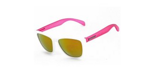 Peppers Breakers Polarized Sunglasses White Frame Tactic Lens & Pink Arms
