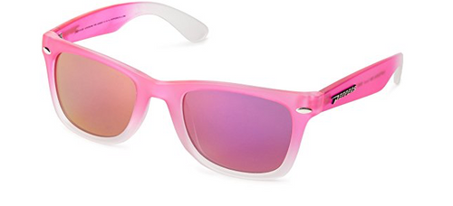 Peppers Sweet Polarized Wayfarer Sunglasses Matte Pink & White