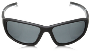 Polaroid Wrap Polarized Sunglasses P7406S Black & Grey Unisex
