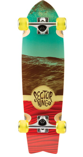 Floater Red Cruiser Longboard Complete