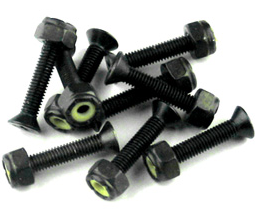 "1"" Phillips Skateboard Hardware Set Black"