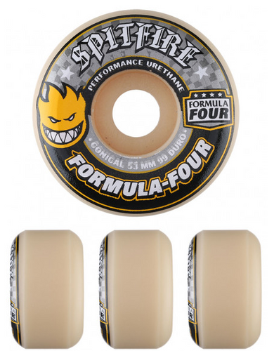 Spitfire Formula Four Conical Full 99A Wheels 52MM 99D (Set of 4)