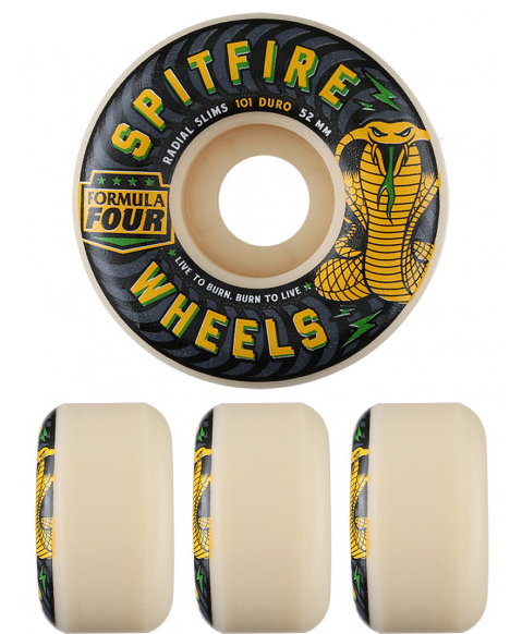 Spitfire Formula Four Speed Kills Radial Slim 101a Wheels (Set of 4)