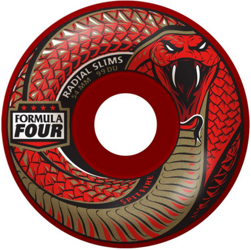 Spitfire Formula Four Radical Slims Skateboard Wheels 99D 54MM