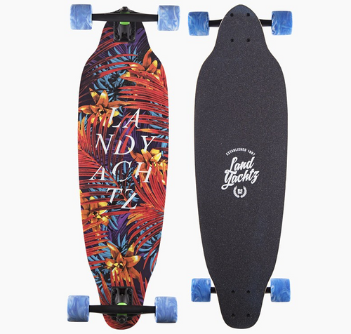 Landyachtz Mummy Jungle Fern Main Image Showing Top Deck and Graphic