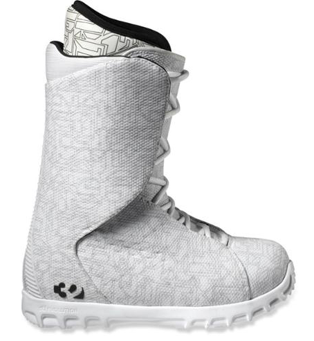 Ultralight Men's Snowboard Boot, White/Black Size 9 US