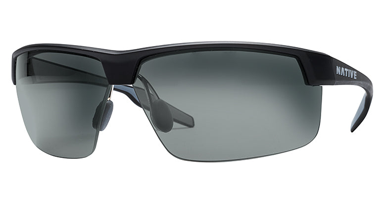 Native Eyewear Hardtop Ultra XP Polarized Sunglasses in Matte Black with Gray Lens