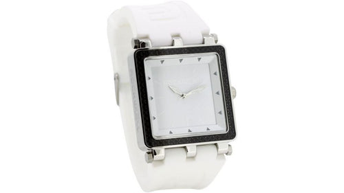 The CF 50mm Wrist Watch, White/White