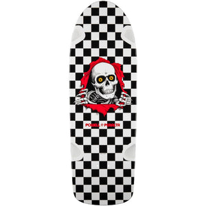 "Powell Peralta OG Ripper 10"" x 31"" Skateboard Deck White/Black"