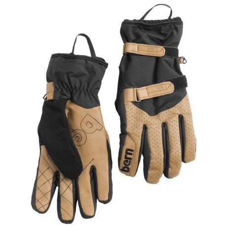Bern Men's Rawhide Leather Snowboard and Ski Gloves